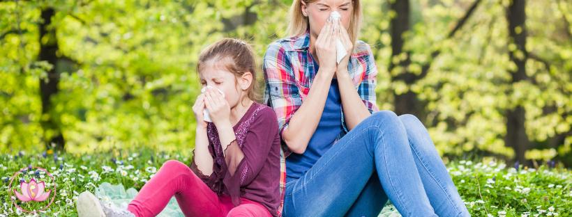 allergie primavera-mamma e figlia